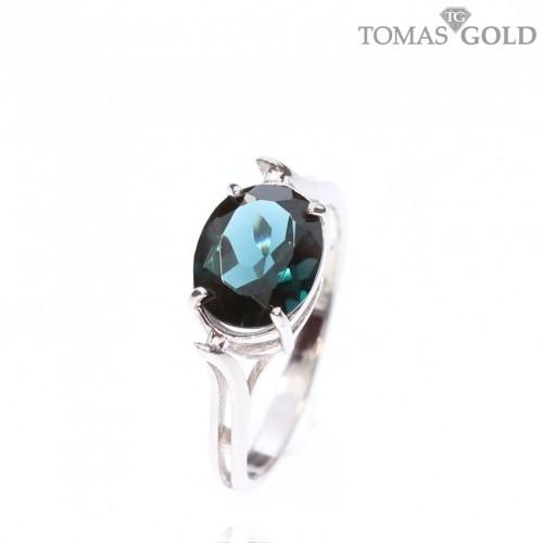 Sidabrinis žiedas su London Topazo akmeniu