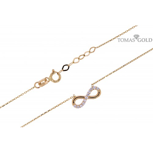 Golden chain with pendant
