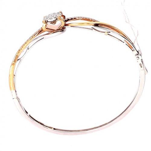Gold bracelet with precious stones