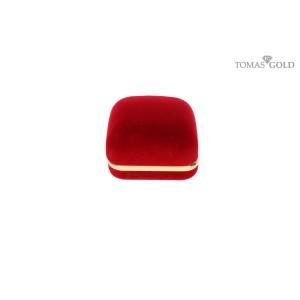 Raudona dėžutė žiedui